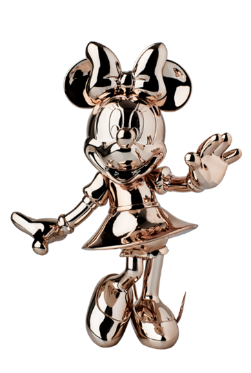 Minnie Welcome Chromed Rose Gold by Leblon Delienne - Limited Edition Sculpture
